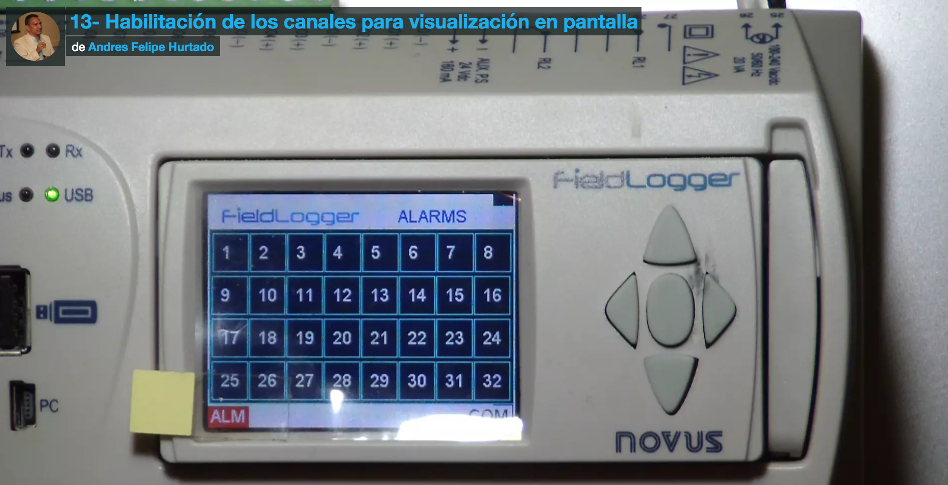 Curso Fieldlogger-configuración panel frontal