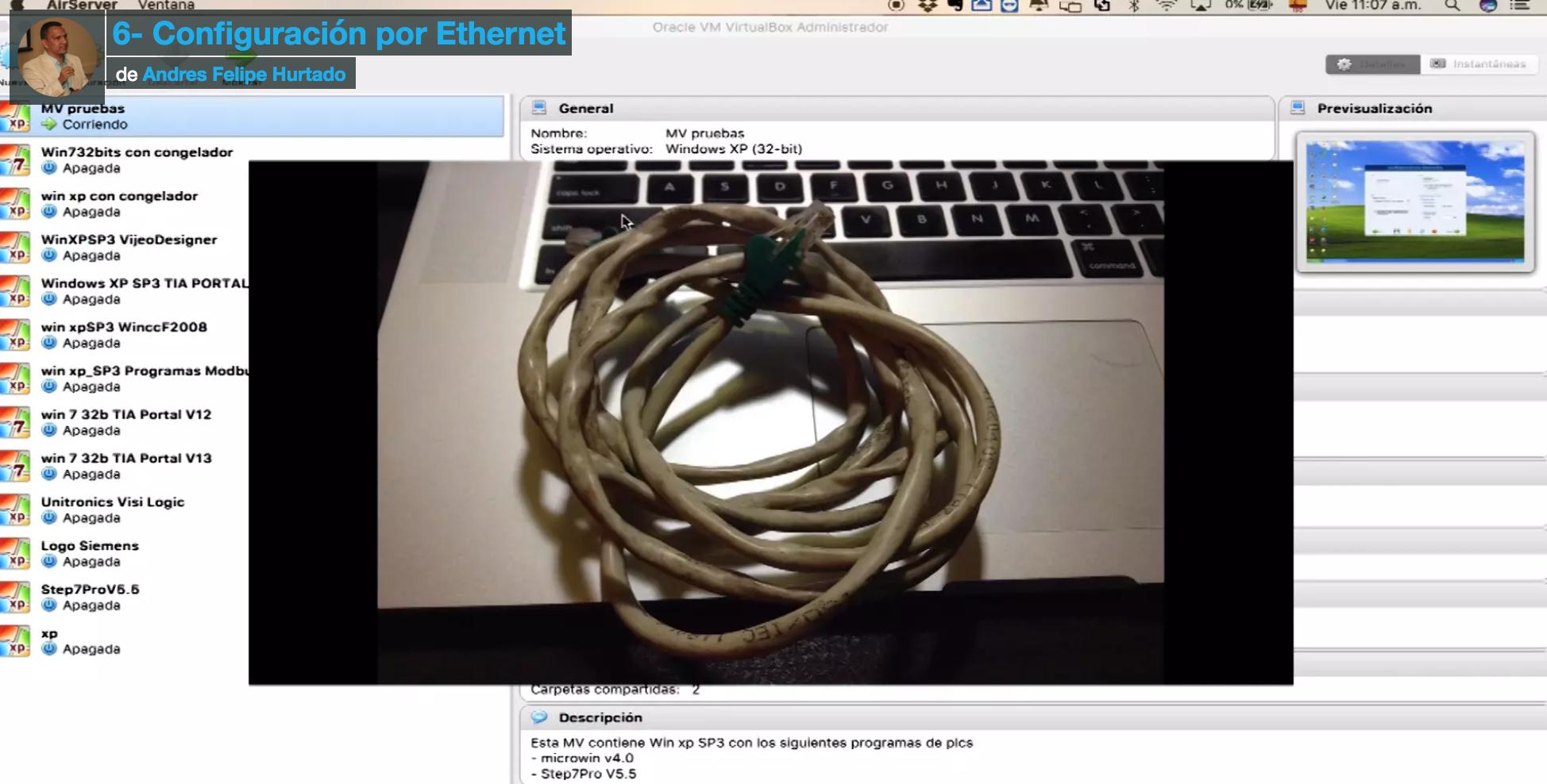 Curso de Fieldlogger-conexión Ethernet