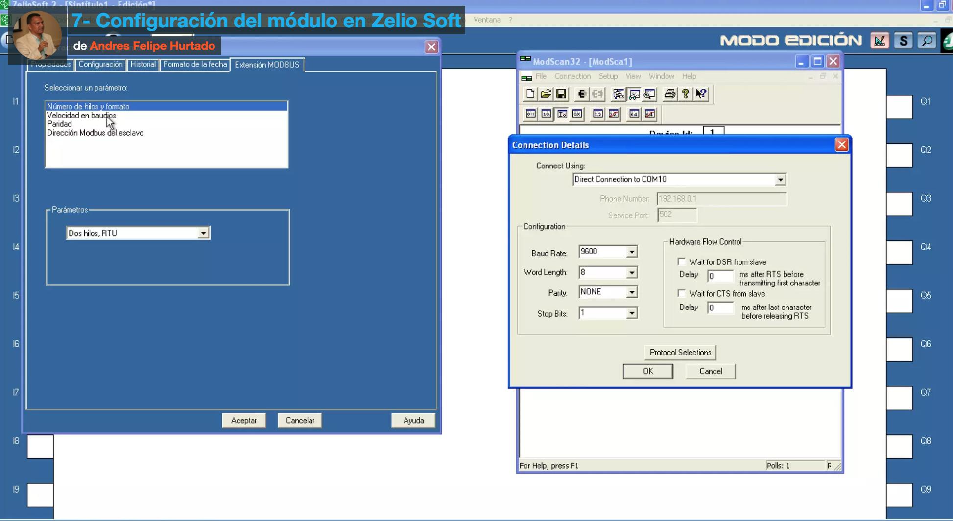 Curso de Modbus RTU en Zelio- Configuración del módulo