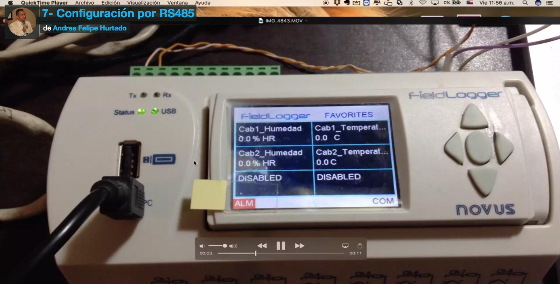 Curso de Fieldlogger-conexión por rs485