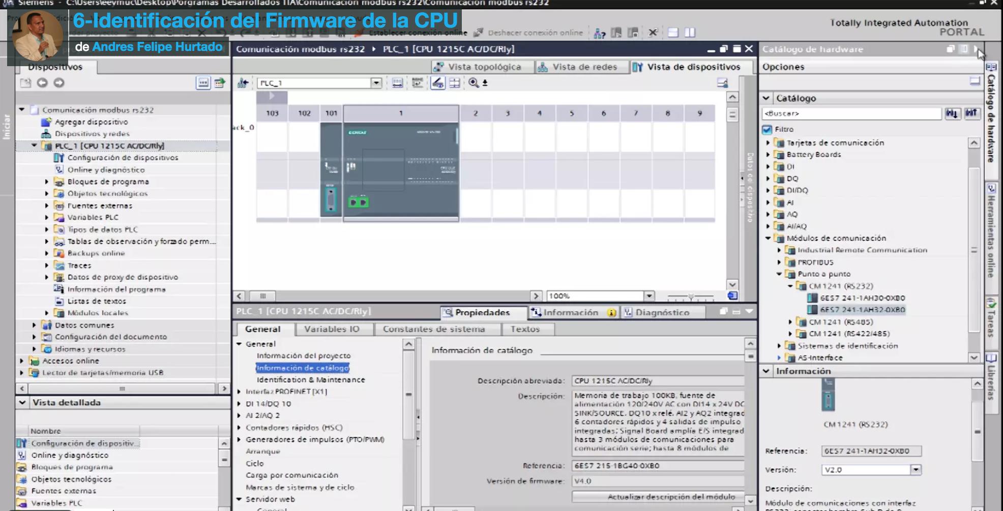 Curso eeymuc-módulo cm1241 rs232-revisión firmware