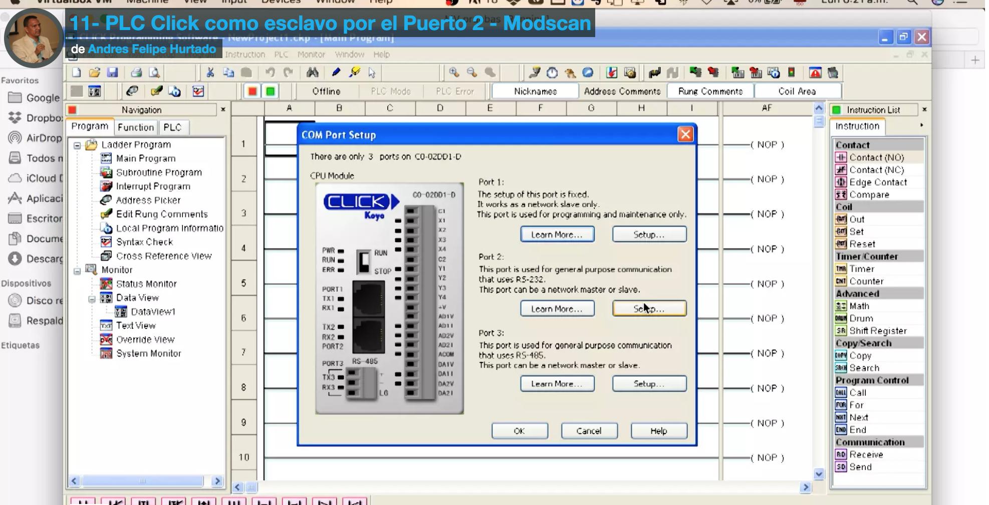 Curso Modbus RTU en PLC Click de koyo