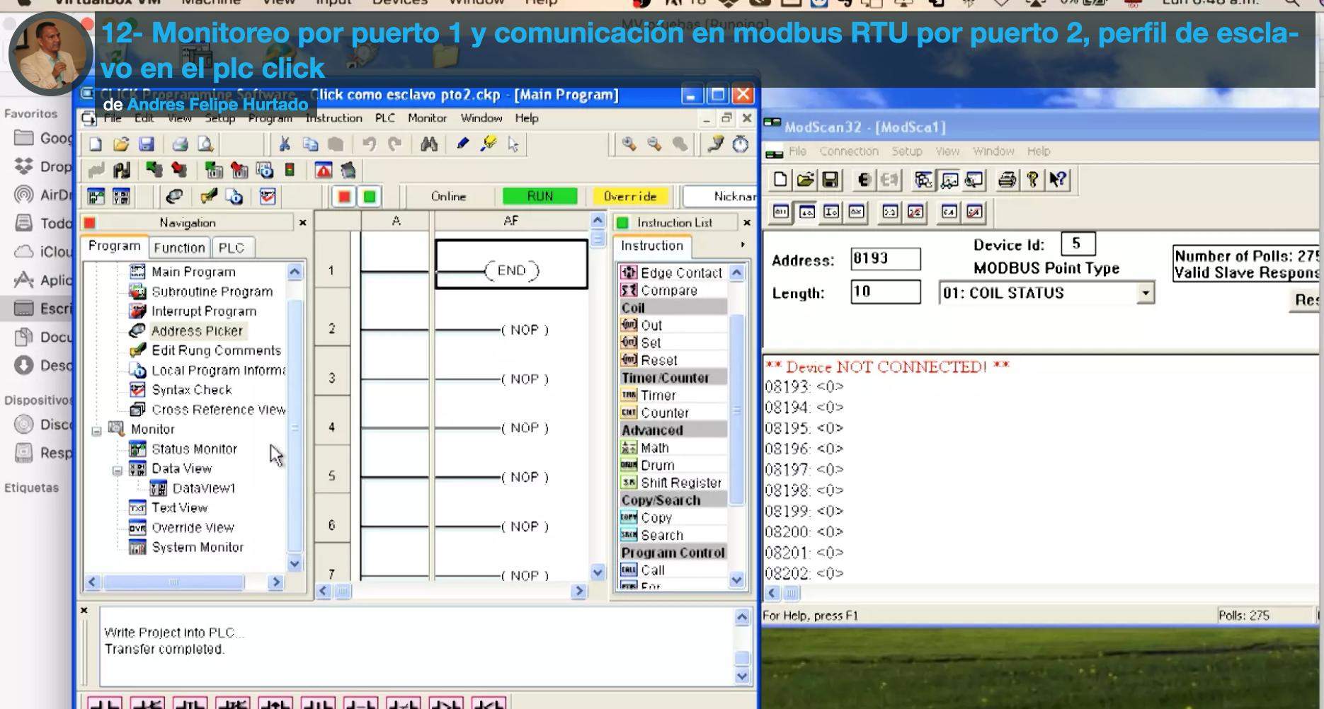 Curso eeymuc Modbus RTU PLC Click Koyo