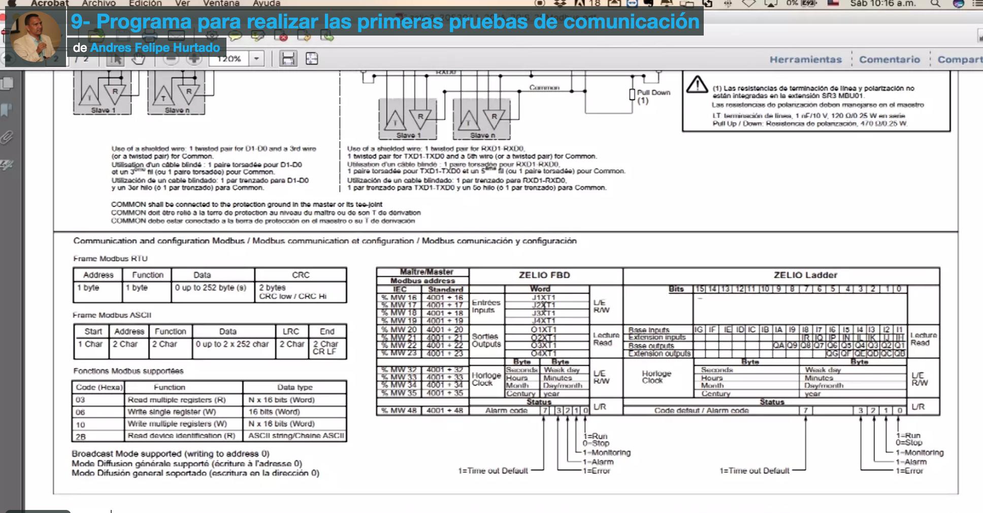 Curso de Modbus RTU en el PLC Zelio de Schneider Electric