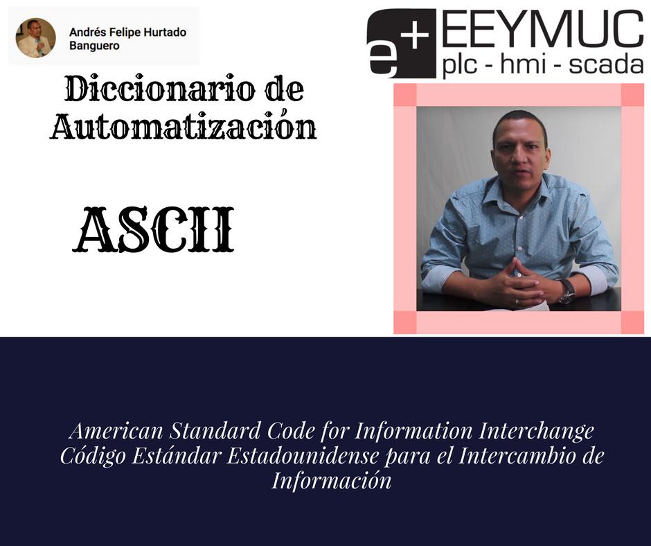 Diccionario Automatización-ASCII-eeymuc