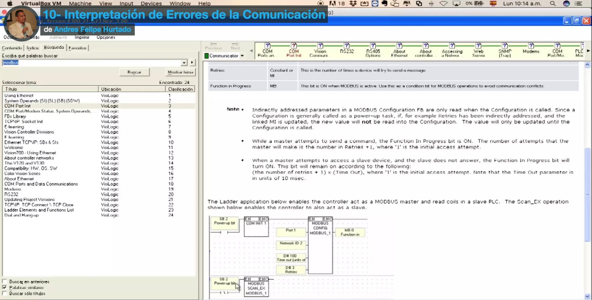 portada video 10-interpretacion de codigos de error modbus rtu-vision 130