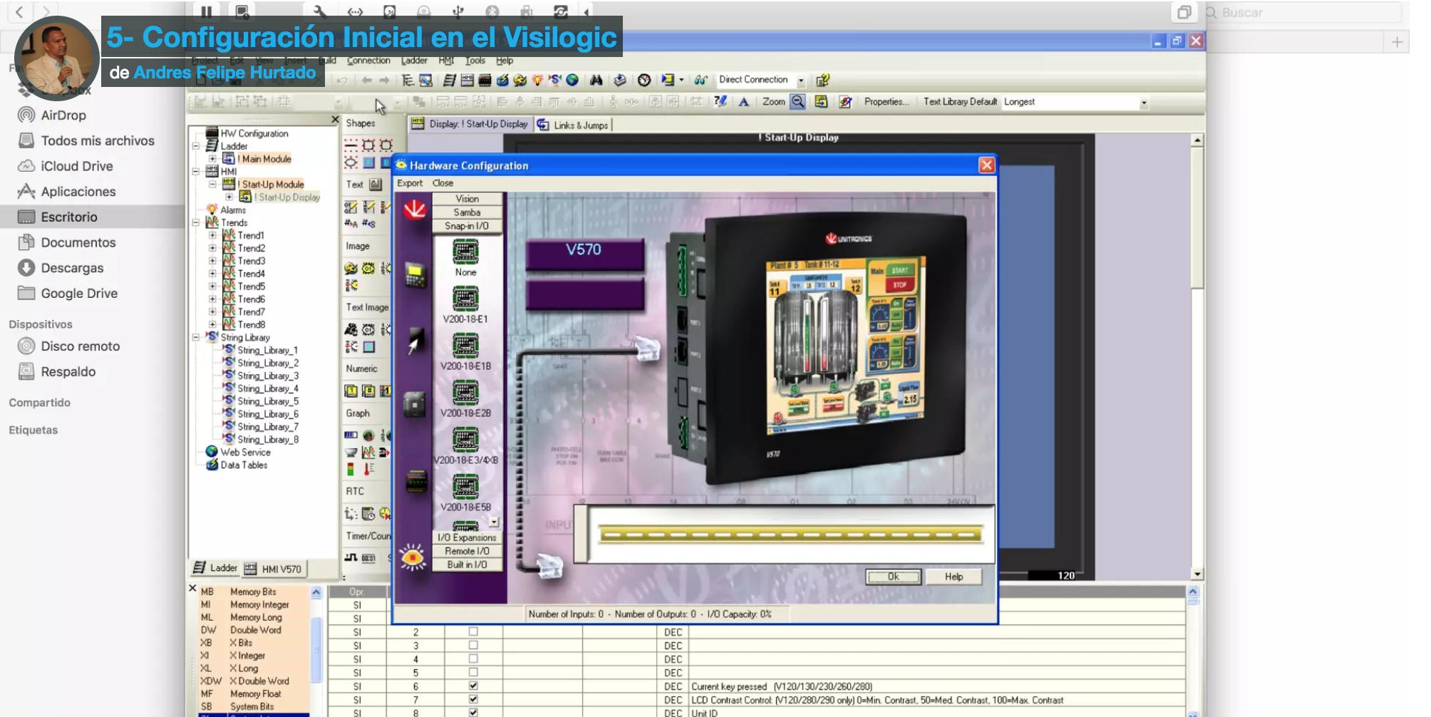 Configuración inicial en el Visilogic- cursos en línea en eeymuc de automatización industrial