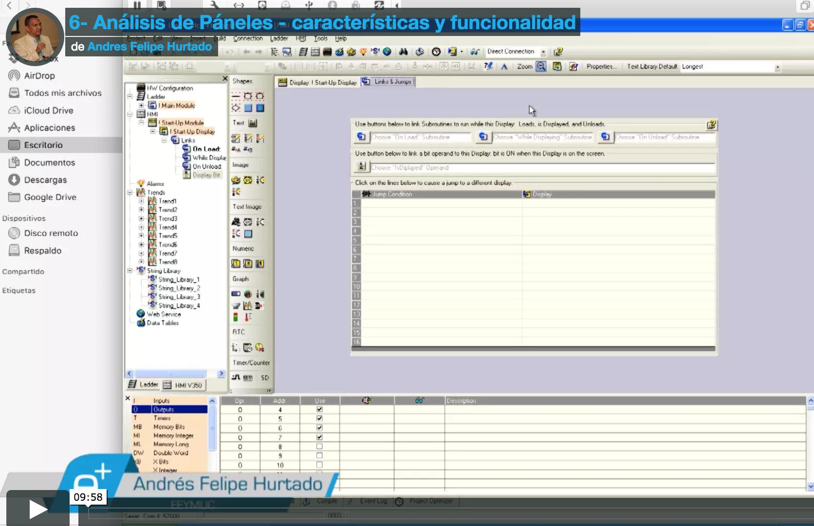 Análisis de Páneles - características y funcionalidad-cursos en línea eeymuc-aprende automatización industrial